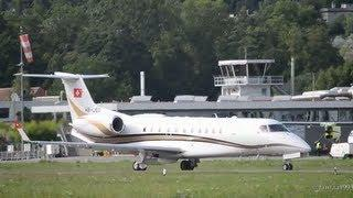 Embraer 135BJ Legacy || Landing at airport Bern-Belp HD