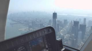 New York City Helicopter Cockpit Flight Over Manhattan / Bell 407 Hubschrauberflug Full HD