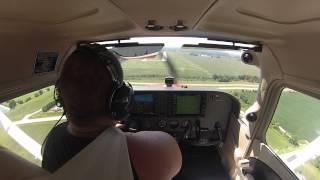 Cockpit View Flight In Cessna Skyhawk Landing HD GOPRO