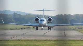 Gulfstream G650 Close Up Takeoff On RWY 7 At KLUK.