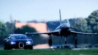 Top Gear : Bugatti Veyron Vs Euro Fighter - Top Gear - BBC