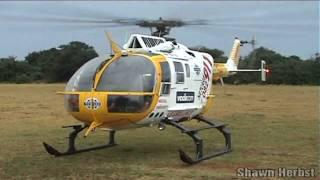 Eurocopter MBB Bo-105 Start Up And Take Off