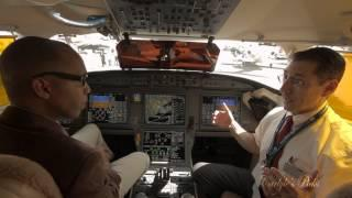 Dassault Falcon 7X Cockpit Demo: Talk About Fly By Wire System And General Avionics