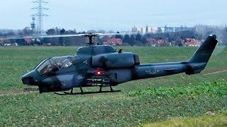 #4 RC Scale Bell AH-1W Super Cobra , T-Rex 500 ESP , 1. Rundflug , 1st Outdoor Flight *HD*