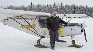 Extreme Flying: Zenith STOL CH 701 On Skis In Alaska
