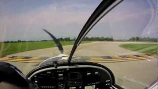 Evektor Sportstar Light Sport At Waukegan, IL (KUGN): NFlightcam Cockpit Video Camera