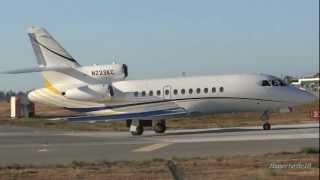 Dassault Falcon 900 Taxi And Takeoff From San Jose International Airport