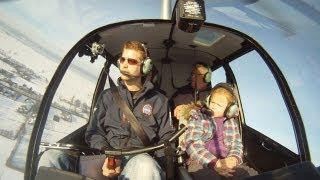 Helicopter Snow Flight With An R44 - GoPro HD
