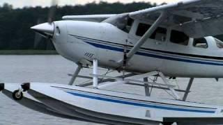 Cessna 206 Amphibian Water Touch-and-go In Poland