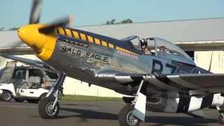 P-51 Mustang Bald Eagle departing Warrenton Fauquier Airport on 5/12/13