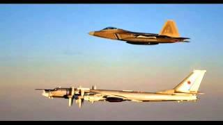 Tu-95 Bear&F-22 Raptor In U.S Airspace