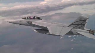 Boeing - Advanced Super Hornet Stealth Fighter Full Flight Tests [720p]