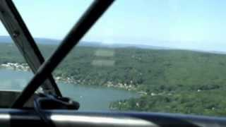 Landing Cessna 185 Amphibian At East Hampton, CT