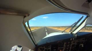 TAKEOFF DEPARTURE AND LANDING BEECHCRAFT KING AIR 90