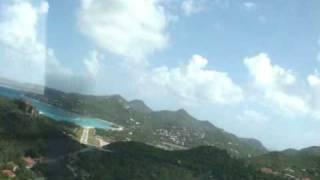 Pilatus PC-12 Landing St Barts January 2009