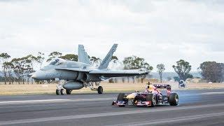 F1 Car Vs F/A-18 Hornet (Red Bull's Daniel Ricciardo Feels The Force)