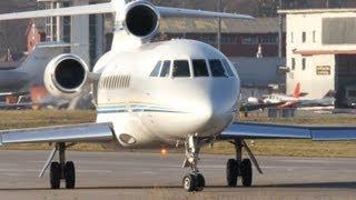 Dassault Falcon 900EX N958DM Take-Off At Airport Bern-Belp