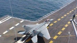Takeoff MiG-29 KUB From Russian Aircraft Carrier