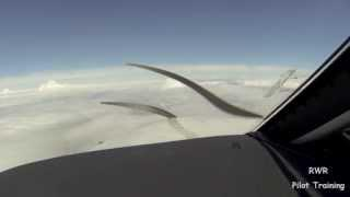 Dealing With Clouds And Airframe Ice In The Descent In A Piper PA46 Aircraft