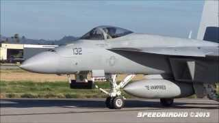 Boeing F/A-18E Super Hornet 'VX-9 Vampires' At Van Nuys Airport [FULL HD VIDEO]