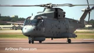Agusta Westland AW101 Merlin HM.1 Royal Navy Arrival RIAT 2013 Wednesday 17 July Airshow