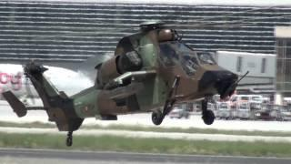 Spain Army Eurocopter EC-665 Tigre HAD-E Landing Malaga AGP.mp4