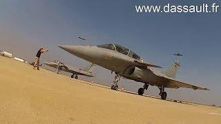 Rafale French Medium Multi-Role Combat Aircraft [MMRCA] Giving Aerial Demonstrations
